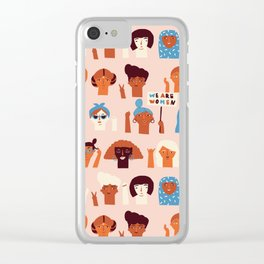 Women day Clear iPhone Case