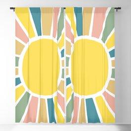 Retro Sunshine Blackout Curtain