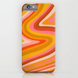 Sunshine Melt – Retro Ochre iPhone Case