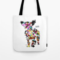 chihuahua Tote Bags featuring Chihuahua by bri.buckley