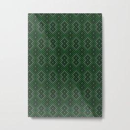 Green Patterned Snakeskin Metal Print