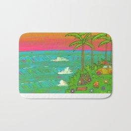 VW Beatle Bug Surf Paradise Adventure Bath Mat