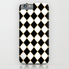 Chess board with golden threads iPhone Case