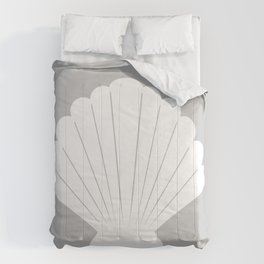Seashell (White & Gray) Comforters