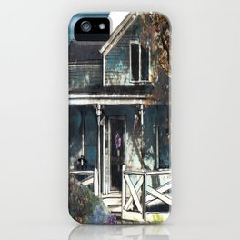 House, Vintage Mixed Media Photograph by Seattle Artist Mary Klump iPhone Case