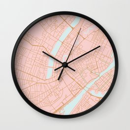 Copenhagen map Wall Clock