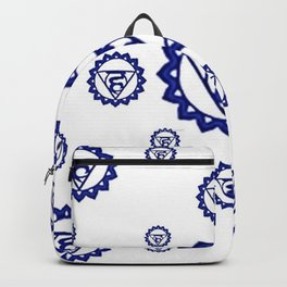 "BLUE SANSKRIT CHAKRAS PSYCHIC WHEEL "" SPEAK"" Backpack"