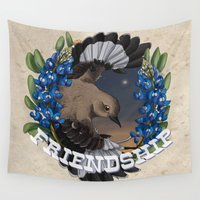 friendship Wall Tapestries featuring Friendship by Quigley Down Under