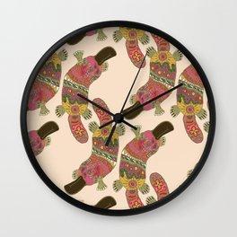 duck-billed platypus linen Wall Clock