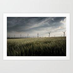 Wind mils Art Print