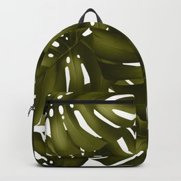 monstera leaves 3 Backpack