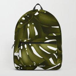 monstera leaves 3 Backpack
