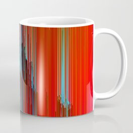 California Dreamin' - Abstract Glitch Pixel Art Coffee Mug