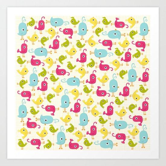 Sweet Tweets Art Print