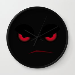 Halloween Evil Face Looking At You Wall Clock