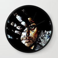 fringe Wall Clocks featuring Fringe by D77 The DigArtisT