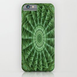 Green Stripes Kaleidoscope 8 iPhone Case