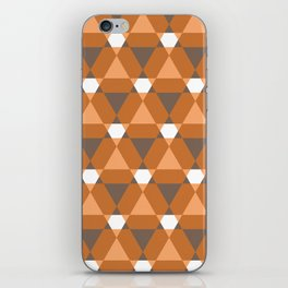 Reception retro geometric pattern iPhone Skin