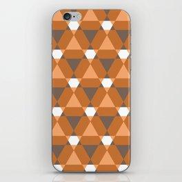 Reception retro geometric pattern iPhone Skin