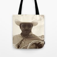 cowboy Tote Bags featuring Cowboy by DistinctyDesign