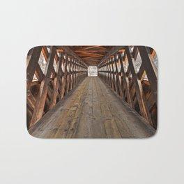 Jack O'Lantern Covered Bridge Bath Mat
