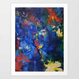 Abstract Oil Art Print
