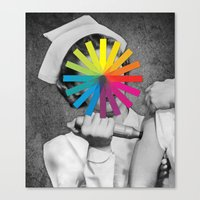 nurse Canvas Prints featuring NURSE by Estera Lazowska