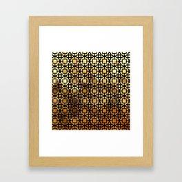 Luxurious Gold-Bronze Islamic Geometric Pattern Framed Art Print