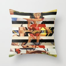 Glitch Pin-Up Redux: Lindsey Throw Pillow