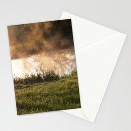 orange smoke and fog Stationery Cards
