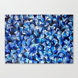 Fond Bleu Canvas Print