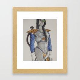 Saiyan Princess Framed Art Print
