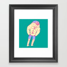 Muscle Butt Framed Art Print