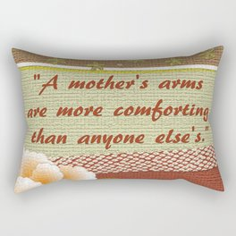 A Mother's Arms Rectangular Pillow