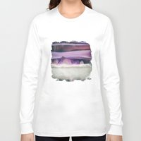 northern lights Long Sleeve T-shirts featuring Northern Lights by SpaceFrogDesigns