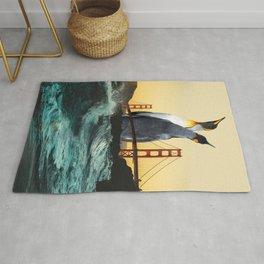 Golden Penguins Rug