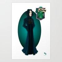 snape Art Prints featuring Severus Snape by Zeynep Aktaş