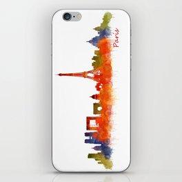 Paris City Skyline Hq v2 iPhone Skin