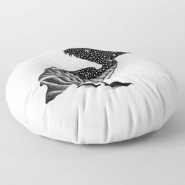 THE PELICAN AND THE SEA Floor Pillow