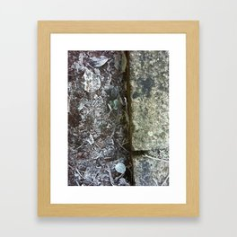 Gutters Flakes Framed Art Print