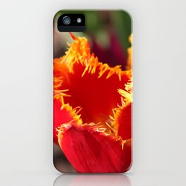 Tulip - Red with Ruffles iPhone Case