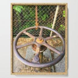 Metal Water Works Wheel Serving Tray