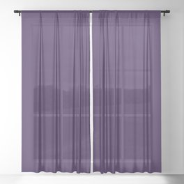 color Russian violet Sheer Curtain