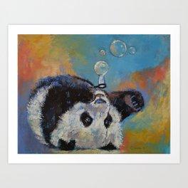 Blowing Bubbles Art Print
