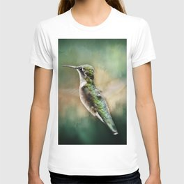 Single Humming bird in flight T-shirt