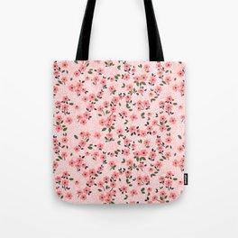 29 Cute floral pattern. Pink flowers. Tote Bag