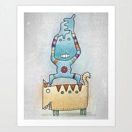 Dancing on Fat Cat Art Print
