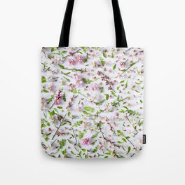 Leaves and flowers pattern (26) Tote Bag