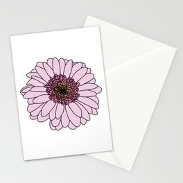Pink Gerbera Drawing Stationery Cards