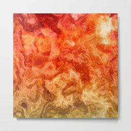 Fire Marble Metal Print